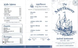 Mayflower Restaurant Elizabethton TN Menu Page 1 of 2
